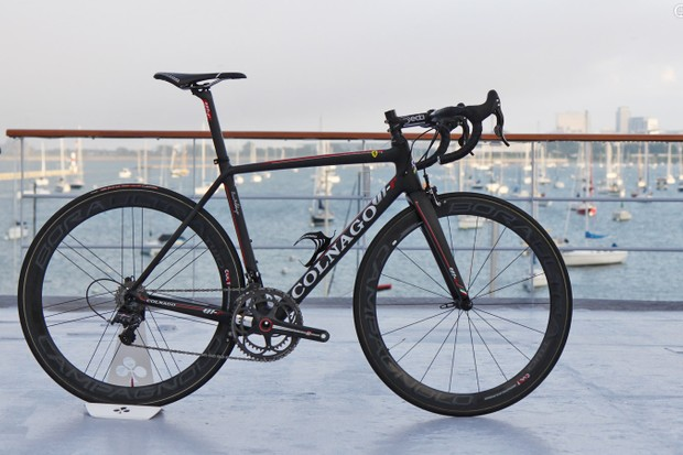 Colnago says its new V1-r is by far the lightest frame it has ever offered. Actual weight for a bare frame is just 835g (size 48S)