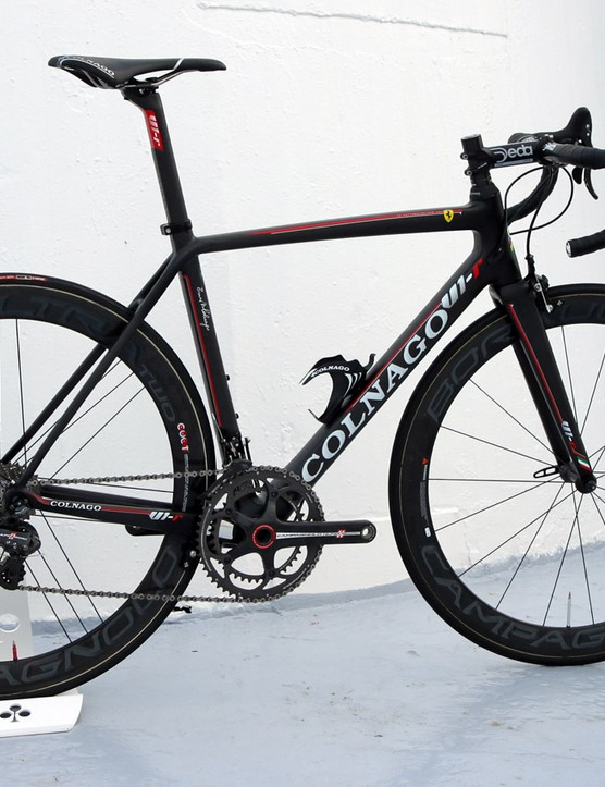 According to Colnago, the new V1-r is lighter than the C60 but also has a firmer and more aggressive ride quality