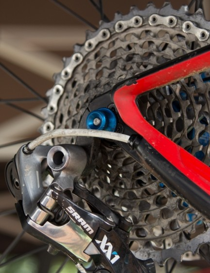 A large 10-42T SRAM XX1 cassette is all the gearing most World Cup riders need