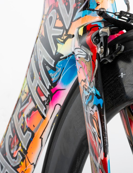 Custom-painted Specialized Shiv by Kristian Von Hornsleth