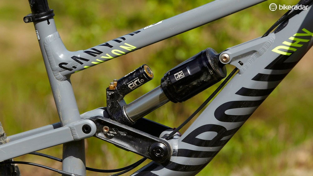 The Cane Creek shock offers lots of effective damping adjustment that helps you get the most out of the bike