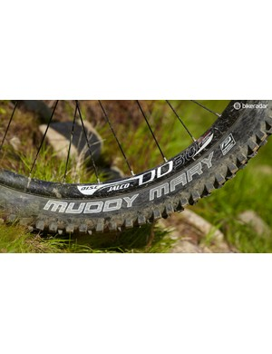 The firm-compound tyres make riding at speed on roots or rocks a dicey affair