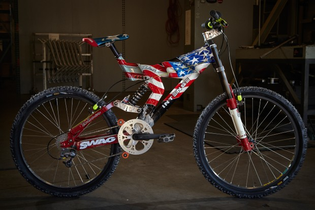 Palmer's custom painted Intense M1 - the bike that changed downhill