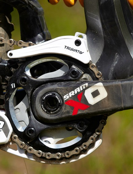 SRAM's X01 DH provides the transmission