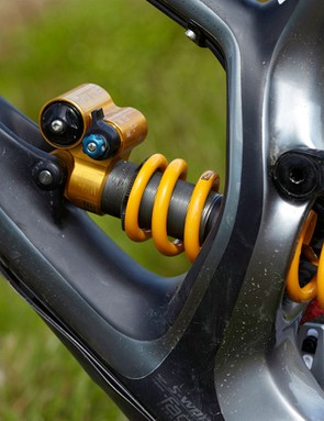 The Öhlins TTX shock is a top performer that offers a massive amount of composure when the terrain starts to get ugly