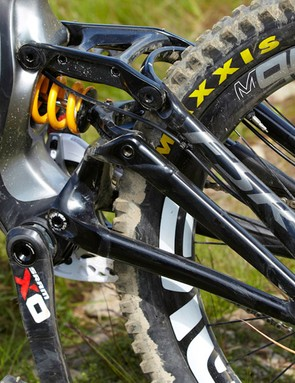 Specialized'sFSR suspension system can hang up slightly on the hardest hits, but the fantastic, easy to tune TTX shock will see you right