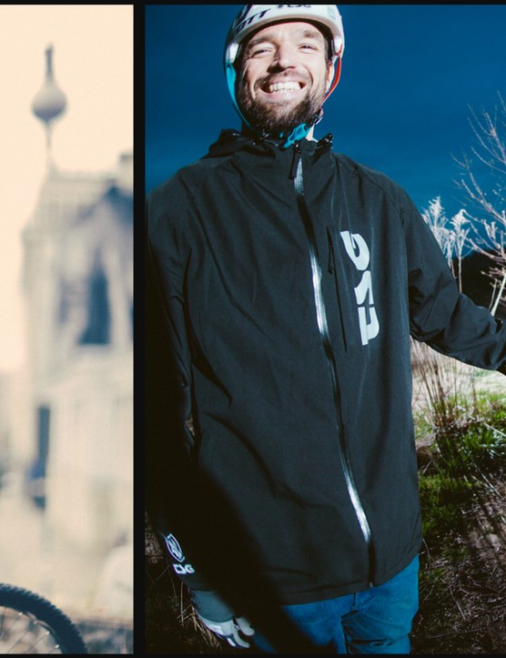 The Chaos jacket (left) and Chaos zip hooded shirt (right)