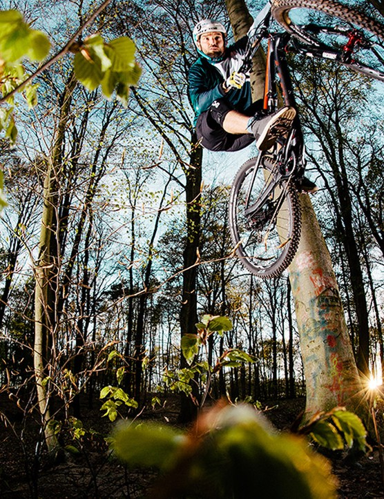 The Ricca bike shirt proving its freeride credentials