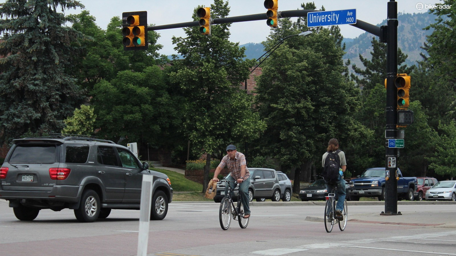 About 12 percent of people in Boulder, Colorado get around on bikes, the study said