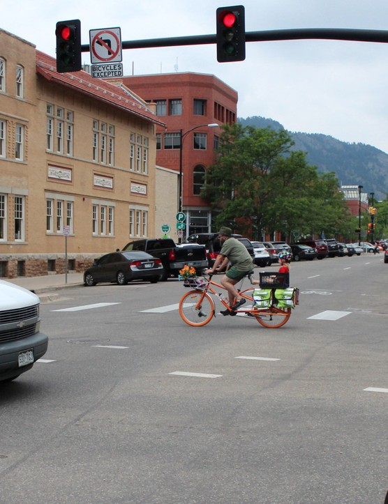 Whether in Lycra or in street clothes, cyclists are a common sight on the streets of Boulder