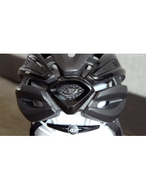 The rearmost exhaust port is decorated with a plastic shield-like piece