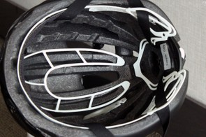 Deep internal channeling helps air pass across the top of your head. The Roc Loc Air retention system also partially suspends the helmet off the top of the riders' head to create more room for the air to move