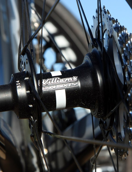 The Williams Cycling Six-Sixty rear hub engages very quickly for a road wheelset. It also runs surprisingly quietly with minimal buzz considering the fine ratchet teeth