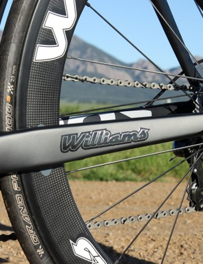 The tube profiles are fairly large but overall, the Williams Aeros Genesis frameset falls on the softer end of the spectrum