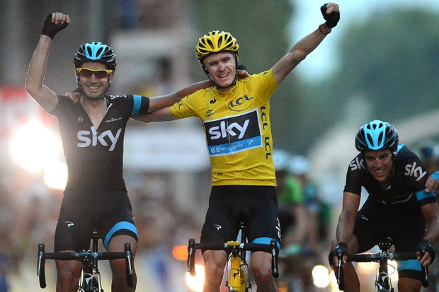 Chris Froome takes victory in the 100th Tour de France last summer