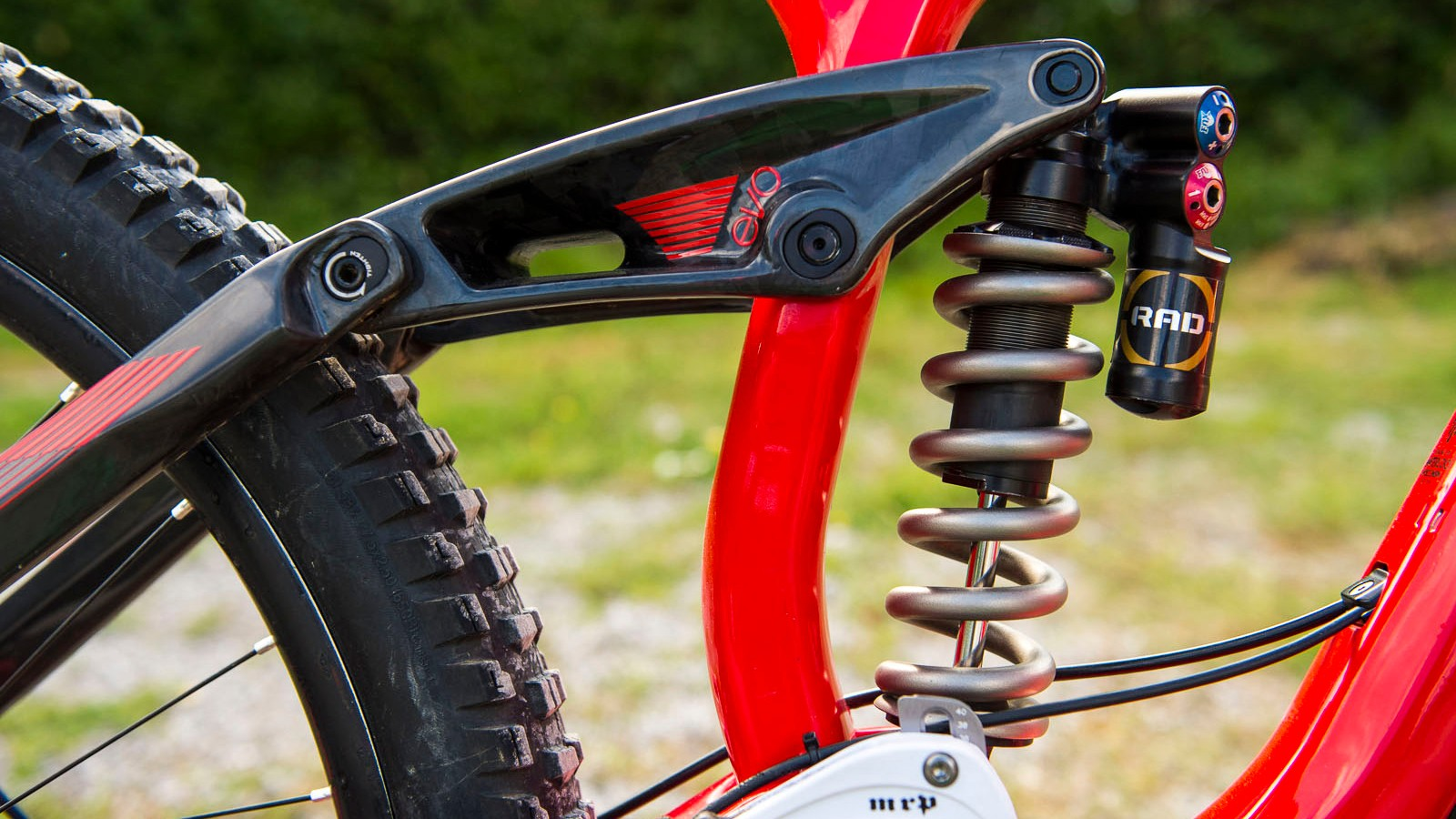 The RAD shock mounted in Brook MacDonald's new Trek Session 650b. It won't be long until one of these wins a race