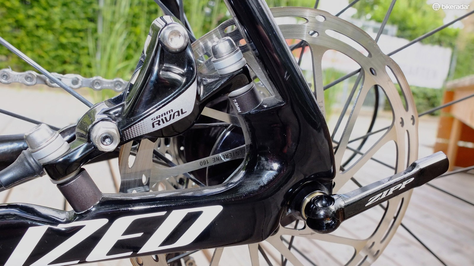 SRAM recommends 160mm rotors for the road, and 140mm for cyclocross