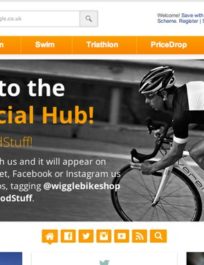 The Wiggle Social Hub collects cycling content together from social media