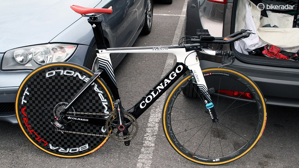 Joanna Rowsell's Wiggle-Honda Colnago K.Zero time trial bike