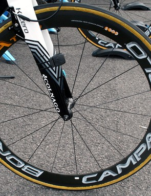 ...Jo was planning on riding a Bora Ultra Two front wheel in the race