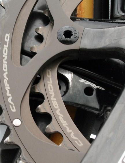 Super Record cranks for Team Wiggle-Honda