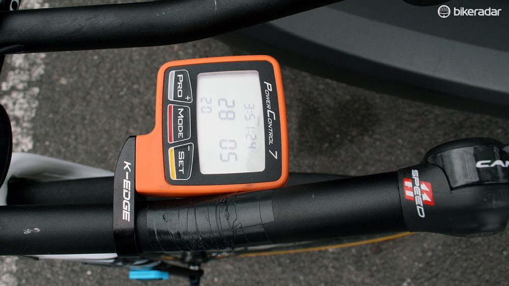An SRM Power Control 7 computer was mounted on the bars but no SRM unit attached