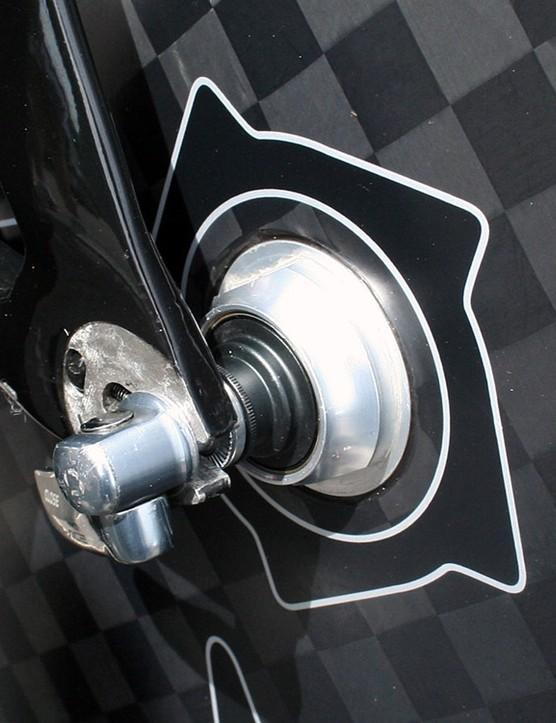 A standard Dura-Ace skewer on the rear of Wiggins' machine