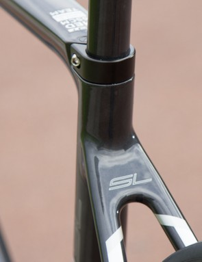 An integrated seat clamp further cleans up the frame lines