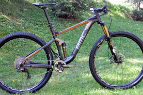 The BMC Speedfox trail bike will come in three frame models, each with two or three possible parts packages