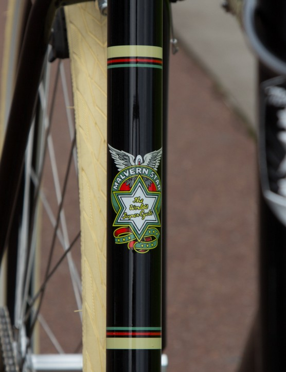 The original Malvern Star head badge will feature on the seat tube, while the new head badge sits at the head tube