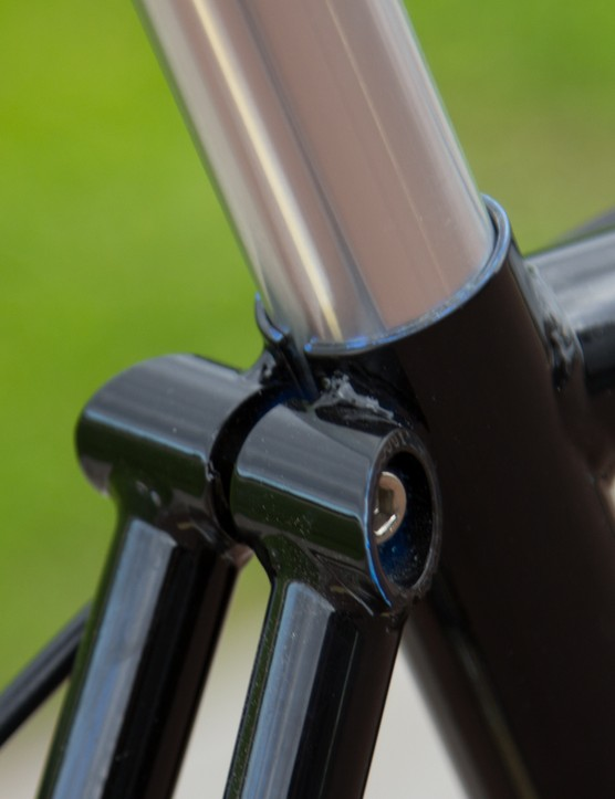 Fastback seatstays add further classic style