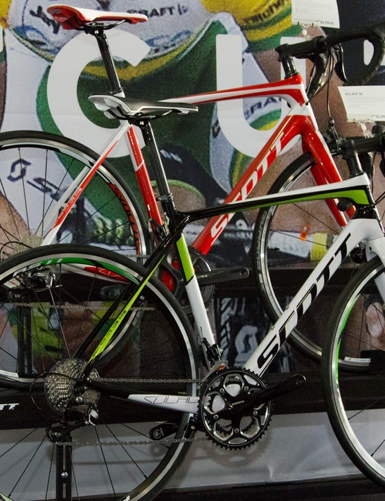 Launched last year, the Scott Solace range also continues unchanged, bar the addition of a disc-brake version