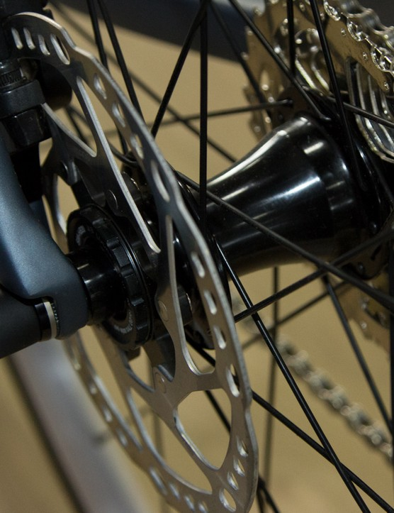 A thru-axle also features at the rear on the Solace Disc