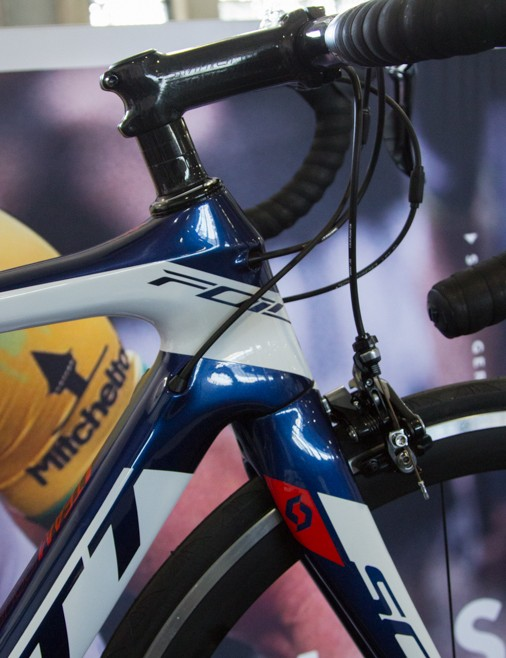One of the new colourschemes that reccurs throughout the road and mountain bike performance range - IAM Cycling team replica