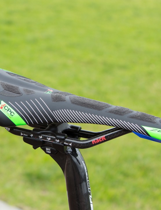 A matched Prologo saddle is part of the Addict Team Issue Di2