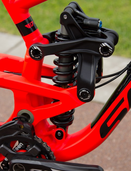 The reworked rear suspension means there is far less rotation on the frame hardware - allowing for greater bearing durability and increased small bump compliance