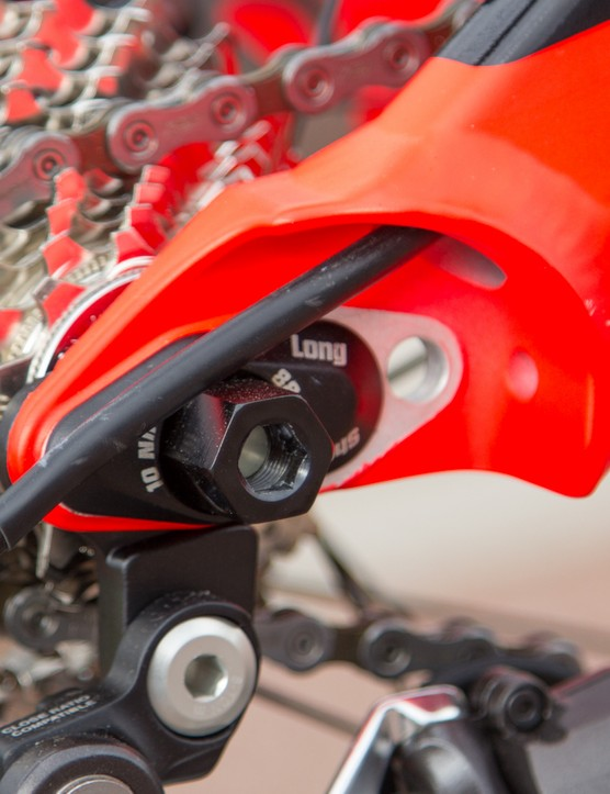 The Gambler features adjustable chainstay length at the back