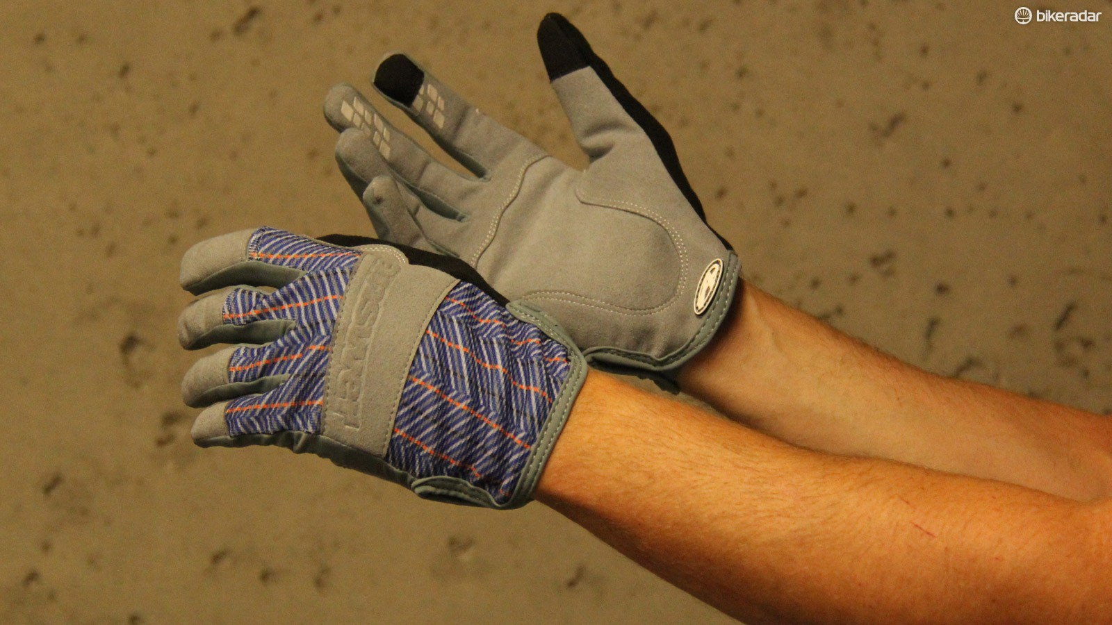Answer's Big John gloves look like a pair of work gloves, but have all the features you'd expect in mountain bike gloves