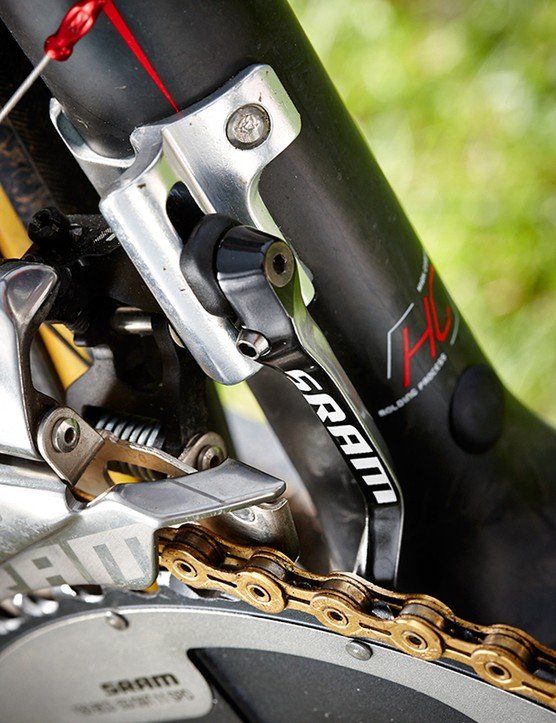 SRAM's latest Red group is the lightest of all the top end drivetrains
