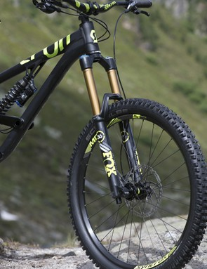 The new Fox 36 Air forks offer riders a damped 180mm of travel