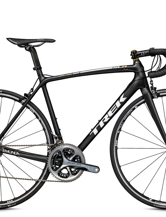 The Trek Émonda SLR 8 is Shimano Dura-Ace with Bontrager X Lite tubeless wheels