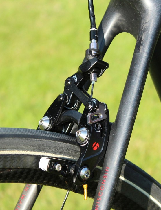 Tune provides the Skyline rims for the Bontrager Speed Stop brakes