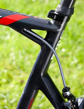 A lower position for the seatstays allows more seat tube flex for comfort