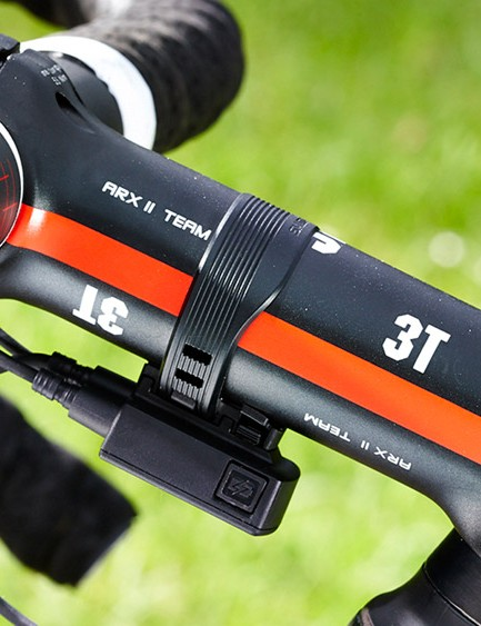 The Di2 battery is hidden in the seatpost but the 'junction box' remains on display