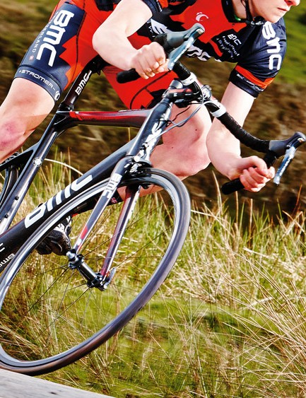 Shimano's flagship Di2 Dura-Ace and superb gearing help make the SLR01 a pleasure to ride in almost any situation