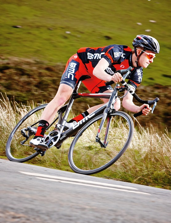 Even on corrugated roads, rolling on 22mm tubulars, the BMC's handling is simply breathtaking
