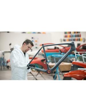 Each S-Works McLaren Tarmac is painted at Mclaren's paint facility the same shop that paints the €1,000,000 P1 hypercar