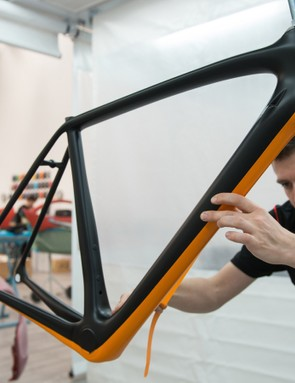 Every frame is finished by hand at McLaren