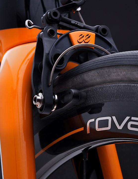 The Mclaren Roval tubular carbon rims are 30g lighter than standard