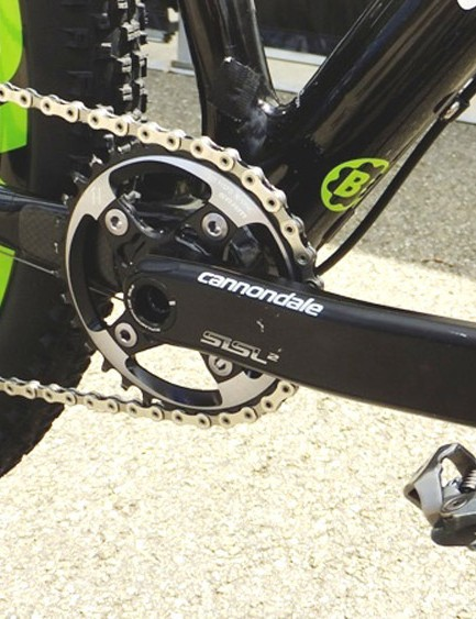 Cannondale's SiSL2 crank, as found on high-end Cannondale road bikes, with the Ai 6mm offset chainring